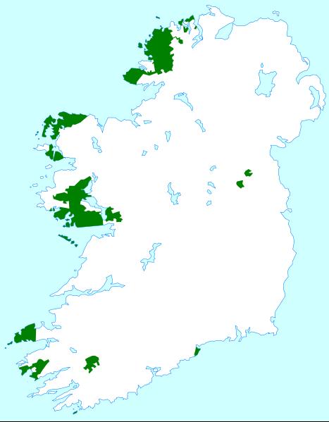 A Little History And Interesting Facts About The Irish Language - Irish language map