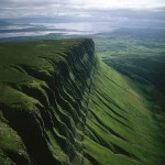Aerial shot of Ben Bulben