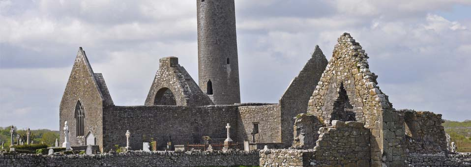 Kilmacduagh Monastery, County Galway – The Leaning Tower of Kilmacduagh