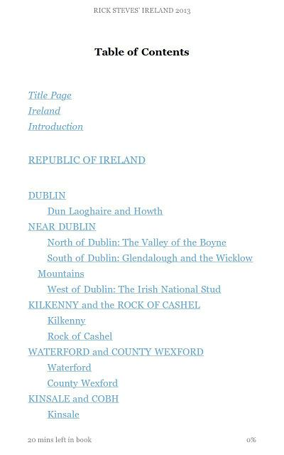 Rick Steves Ireland - Clickable TOC
