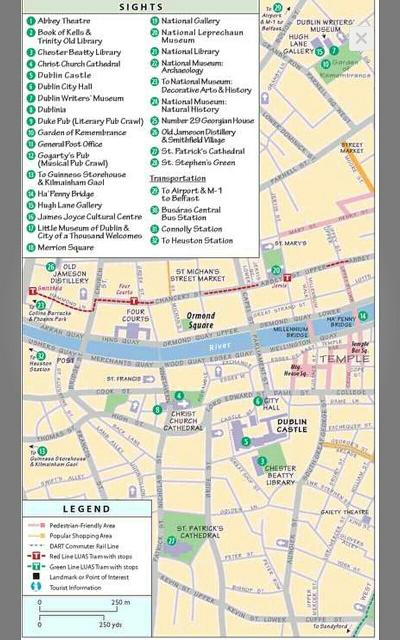 Rick Steves Ireland - Dublin City Map