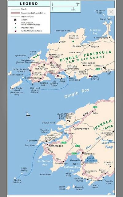 Rick Steves Ireland - Kerry map