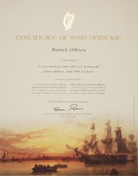 Emigrant Ship Certificate of Irish Heritage