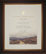 West of Ireland Heritage Certificate