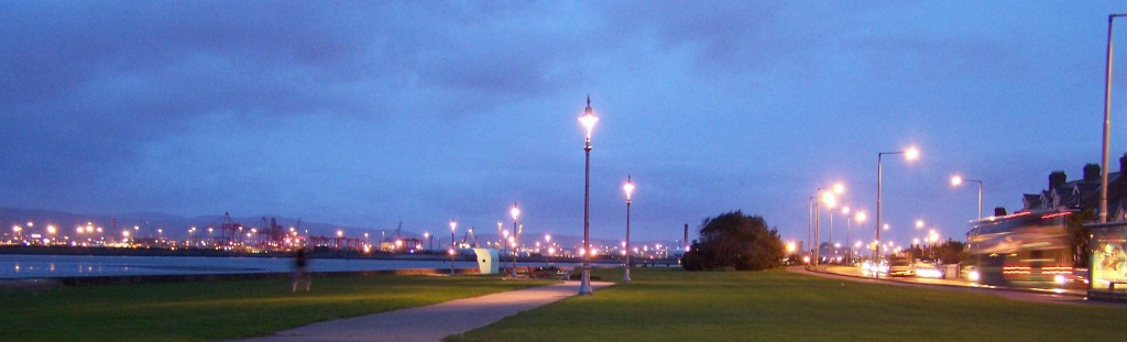 Clontarf Promenade at night