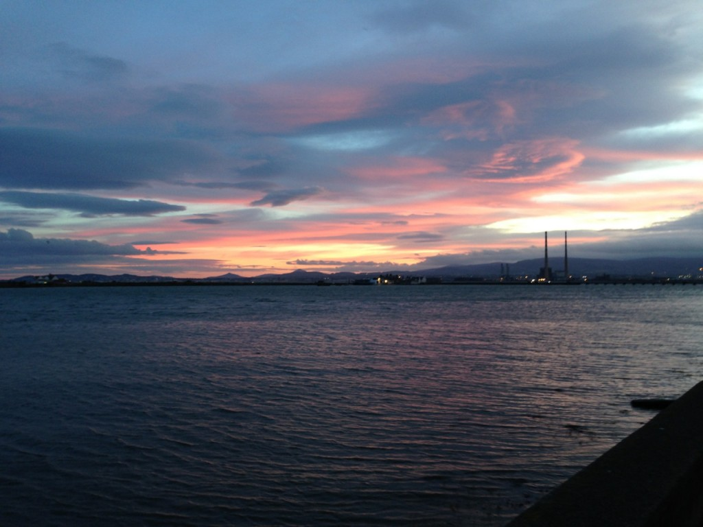 View of Dublin Bay from the Clontarf Promenade (photo by Bob Wilson)