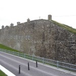 The outer wall at Camden Fort Meagher
